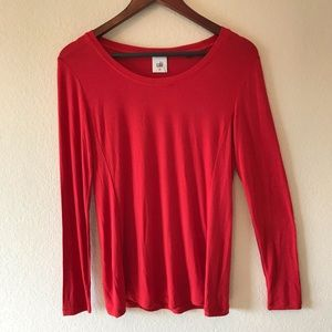 NWT Cabi Chelsea long sleeve tee in Red size XS